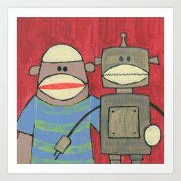 Sock Monkey 221 Art Print