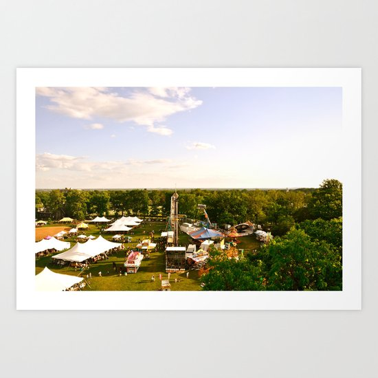 The Delaware Flower Market Art Print
