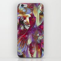 """flora bowley iPhone & iPod Skins featuring """"Manifest"""" Original Painting by Flora Bowley by Flora Bowley"""