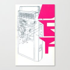 Def in Pink. Canvas Print