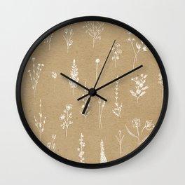 Wildflowers kraft Wall Clock