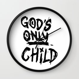 Gods Only Child Wall Clock