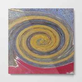 Swirl 02 - Colors of Rust / RostArt Metal Print
