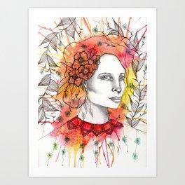 Floral Lady 2 Art Print