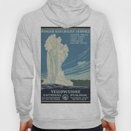 Vintage American WPA Poster - Yellowstone National Park (1938) Hoody