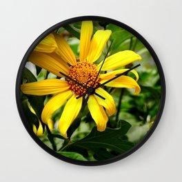 yellow daisys Wall Clock