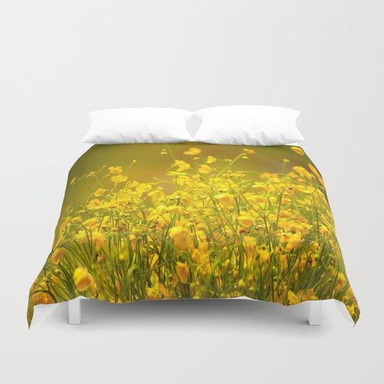 Yellow Mellow Flowers Duvet Cover