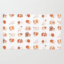 Faces and Poses of a Brittany Spaniel Rug