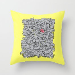 Stand Out & Be Herd Throw Pillow