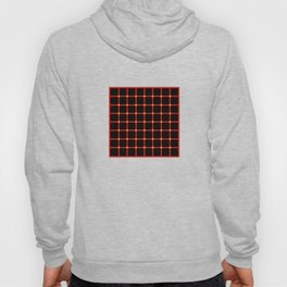 Composition of red vertical and horizontal lines with moving dots illusion Hoody
