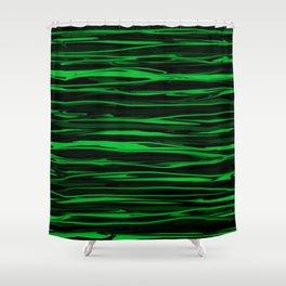 Apple Green Stripes Shower Curtain