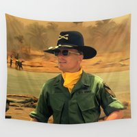 robert farkas Wall Tapestries featuring Robert Duvall @ Apocalypse Now by Gabriel T Toro