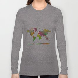 World Map - Watercolor 9 Long Sleeve T-shirt