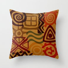 africa inspired Throw Pillow
