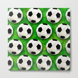 Soccer Ball Football Pattern Metal Print