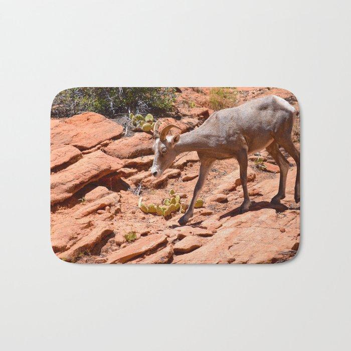 Desert Bighorn Sheep II - Zion Bath Mat