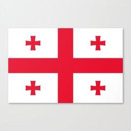 Flag of georgia-Georgia,Sakartvelo, Causasus,georgeian,საქართველო ,Tbilisi,causasus,Georgian,ქართული Canvas Print