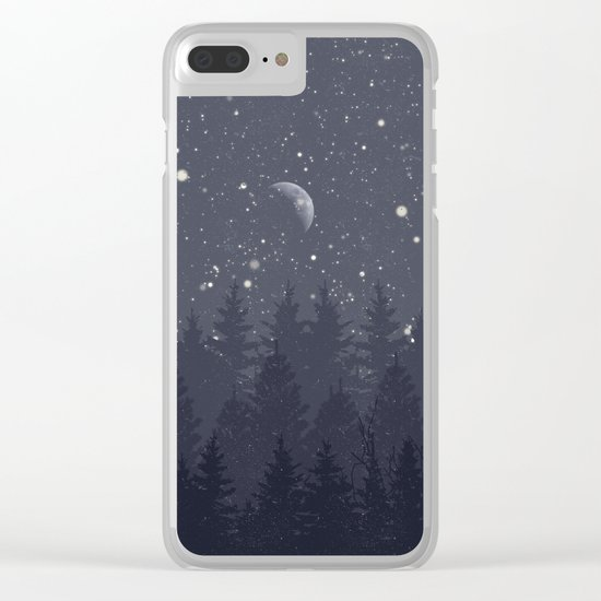 Night Full Star Clear iPhone Case