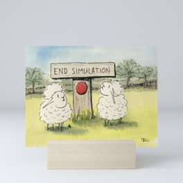 End Simulation Mini Art Print