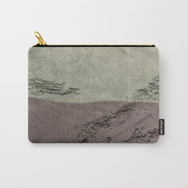 Sea Green Waves on Concrete Carry-All Pouch