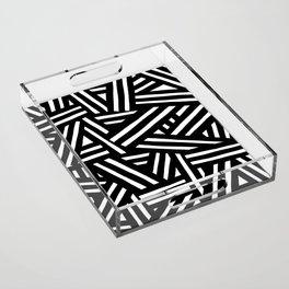 Monochrome 01 Acrylic Tray