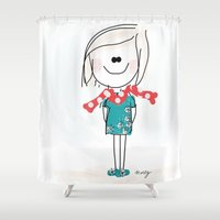 meme Shower Curtains featuring Meme by Indraart