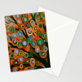Fall Red Leaves Tree Stationery Cards