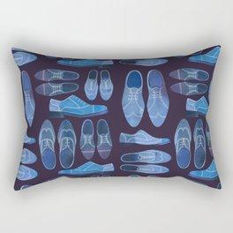 Blue Brogue Shoes for Hipsters & Gentlemen Rectangular Pillow