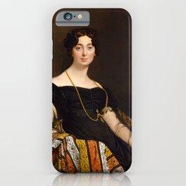 """Jean-Auguste-Dominique Ingres """"Madame Leblanc"""" iPhone Case"""