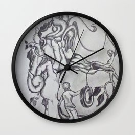 Tire Swing Wall Clock