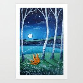 Moon gazers Art Print