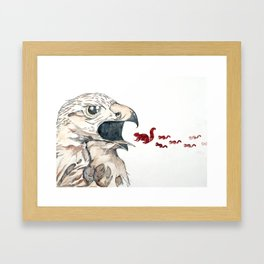 Hawk vs. Squirrel Framed Art Print