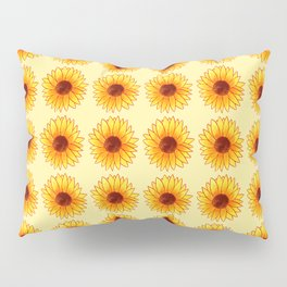 Sunflower Pattern - Sunny Yellow Variant Pillow Sham