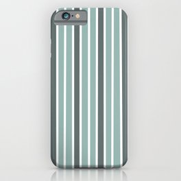 Gray & White Stripes iPhone Case