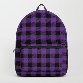 Plaid (purple/black) Backpack