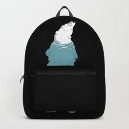 Swimming Polar-Bear (global warming) Backpack