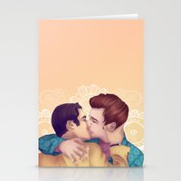 klaine Stationery Cards featuring Klaine Engagement by Mikaoru