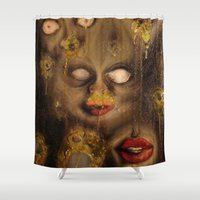 nightmare Shower Curtains featuring Nightmare by Cross-Eyed Morgan