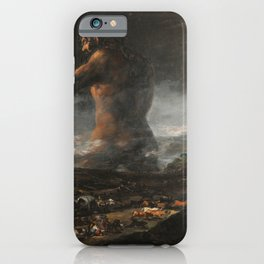 Francisco Goya The Colossus The Giant El Coloso iPhone Case