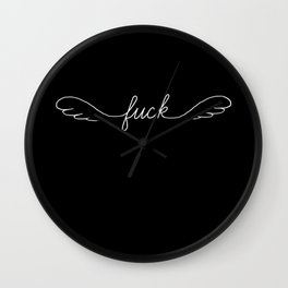 Flying Fuck - Black - Single Wall Clock
