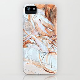 Reclining Lady - Digital Remastered Edition iPhone Case