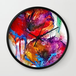 Poppy Petals Wall Clock