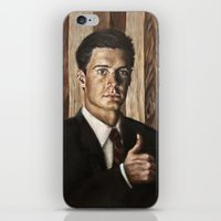dale cooper iPhone & iPod Skins featuring Agent Dale Cooper / Twin Peaks by Heather Buchanan