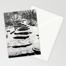 Snowy Stairs Stationery Cards