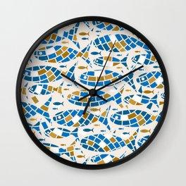 Mosaic Fishes Wall Clock