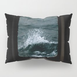 Wave out of a window of a ship – Minimalist Oceanscape Pillow Sham