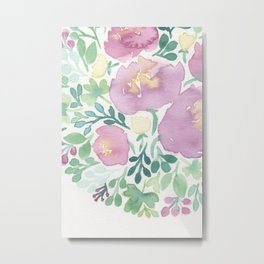 Pink and Green Metal Print