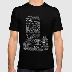 Camera Words LARGE Black Mens Fitted Tee