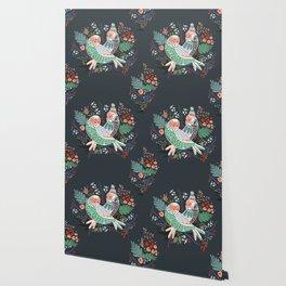 Holiday Birds Love Wallpaper