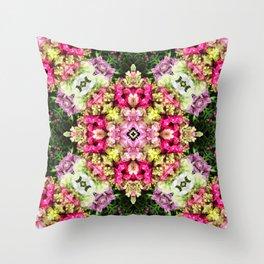 Floral gathering holistic inspirational Mandala Throw Pillow